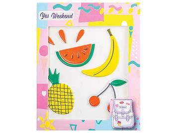 "Набір наклейок ""Patch stiker"" банан,вишня №554316(40)"