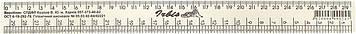 Лінійка пласт. 30см дві шкали закрійника і звичайна(25)