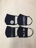 Защитная детская- подростковая  маска многоразовая двухслойная тканевая код 0187