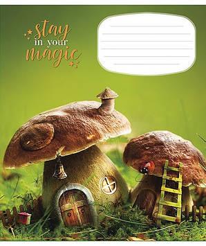 "Зошит 18арк. кліт. Школярик ""Magical world"" №018-2775K(25)(250)"