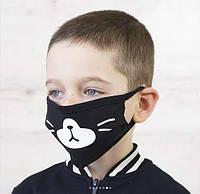 Детская Маска для лица, защитная с принтом многоразовая