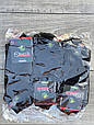 Мужские носки короткие бамбук Marde однотонные 40-45 12 шт в уп черные, фото 2