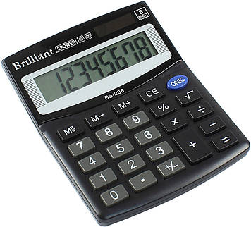 "Калькулятор ""Brilliant"" №BS-208 (8-розряд.)(50)"