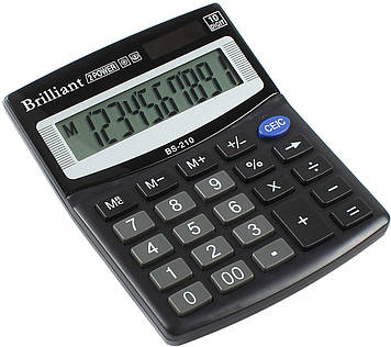 "Калькулятор ""Brilliant"" №BS-210 (10-розряд.)(50)"