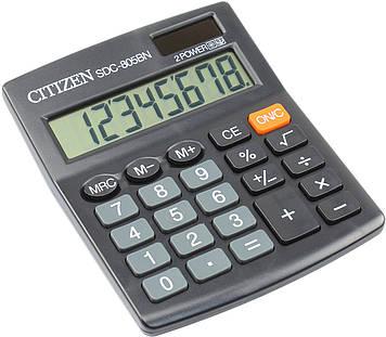 """Калькулятор """"Citizen"""" №SDC-805BN/SDC805NR (8-розряд.)"""