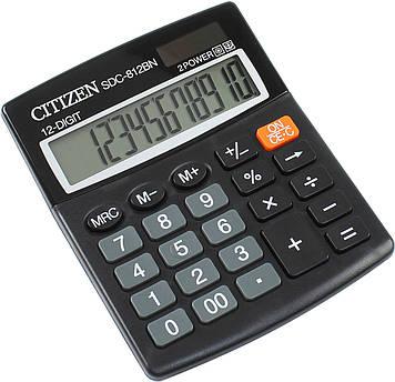 """Калькулятор """"Citizen"""" №SDC-812BN (12-розряд.)"""