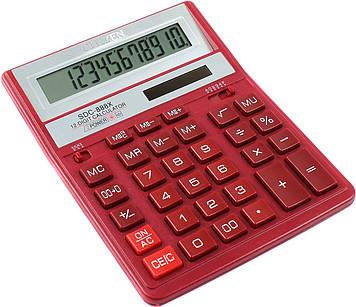 """Калькулятор """"Citizen"""" №SDC-888XRD черв. (12-розряд.)(10)"""