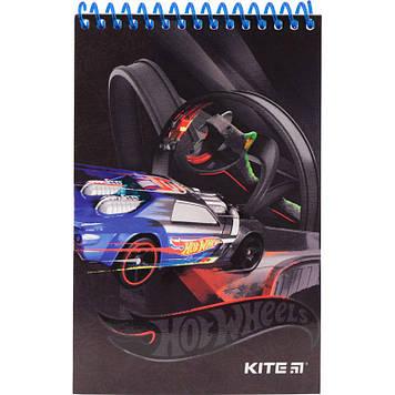 Блокнот пруж. A6 48арк. б/лін. карт. Hot Wheels №HW19-196/Kite/(20)
