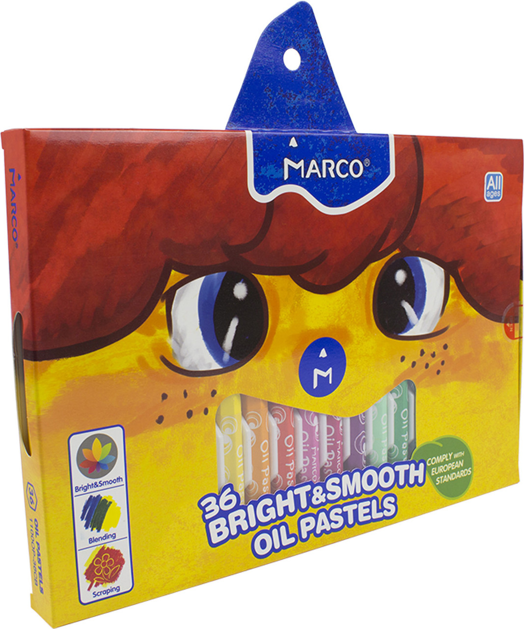 """Пастель масл. """"Marco"""" №1100OP-36CB 36кольор.(4)(24)"""