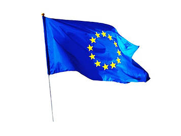 Прапор Євросоюзу з держаком 60х90см