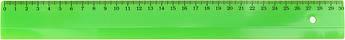 Лінійка пласт. 30см №Л-300нз зелен. кульк.руч(10)(95)