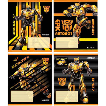 "Зошит 12арк. лін. ""Kite"" Transformers №TF19-234(20)(560)"