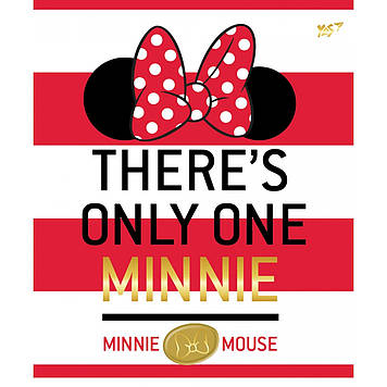 "Зошит A5 YES 12арк. кос.лін. фольга золото, софт-тач ""Minnie Mouse gold"" №763197(10)"