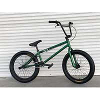 Детский подростковый ВЕЛОСИПЕД ВМХ-5 20 ДЮЙМОВ ЗЕЛЕНЫЙ трюковый велосипед