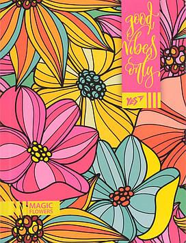 Блокнот A5 64арк. лін. інтегр.,неон+софт-тач лак. Floral vibes №151363/Yes/(3)