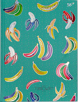 "Блокнот A5 96арк.лін.""YES""Turnowsky.Pattern banana,інтегр,фольга голограф.срібло,УФ№151457"