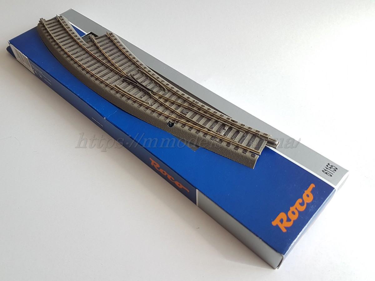 Рельсовый материал Roco Geoline 61155 Стрелка радиусная правая R3,4,масштаба 1:87,H0