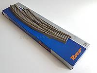 Рельсовый материал Roco Geoline 61155 Стрелка радиусная правая R3,4,масштаба 1:87,H0, фото 1