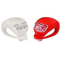 Комплект светодиодных нарульных Led фонариков для самокатов и велосипедов
