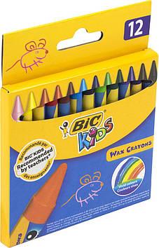 """Крейда воск. """"Bic"""" №927829/6834 Wax Crayon Kids 12кольор.(1)(10)(40)"""