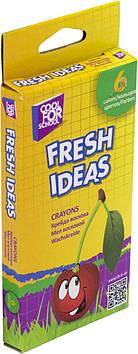 """Крейда воск. """"CoolForSchool"""" Fresh ideas №CF60704 6кольор.(24)"""