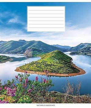 """Зошит 18арк. кліт. Школярик """"Nature/landscape"""" №018-2760K(25)(250)"""