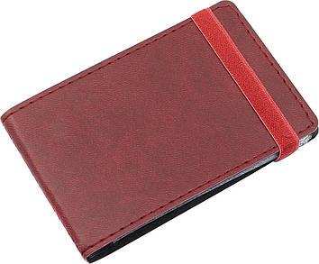 """Візитниця """"Optima"""" №O51615-18 Vivella (20візиток) кишеньк.,на резинці,бордо"""
