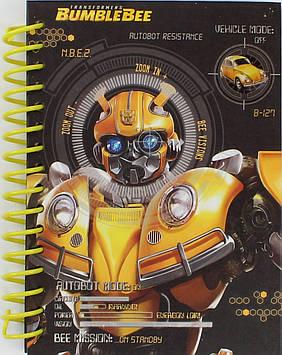 Блокнот пруж. A6 80арк. карт. Transformers №TF19-222/Kite/(50)(100)