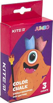"Крейда кольор. ""Kite"" №K19-077 3кольор. Jumbo Jolliers(20)(120)"