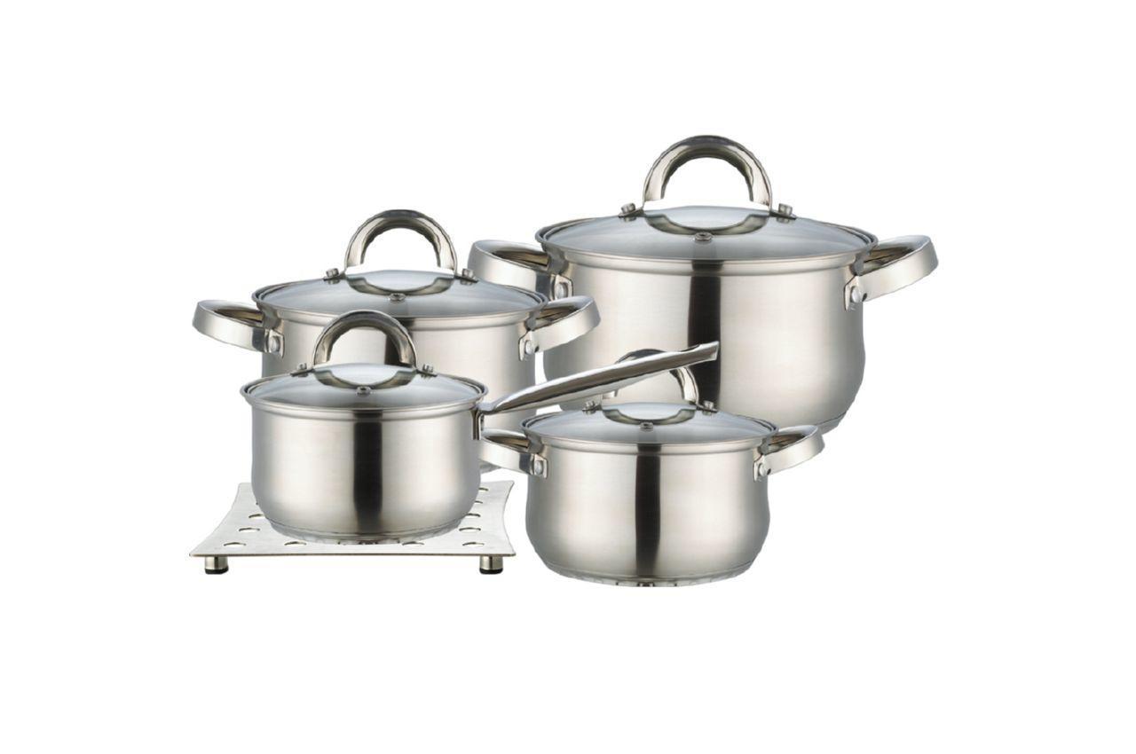 Набор посуды нержавеющий Maestro - 2 x 3 x 4 л x 1,5 л + подставка (4 шт.) MR-2021