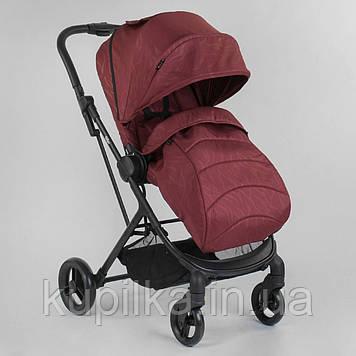Детская прогулочная коляска JOY Liliya 10105 Вишневый, футкавер