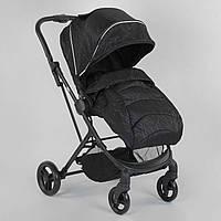 Детская прогулочная коляска с чехлом на ножки JOY Liliya 61755 Черный, футкавер