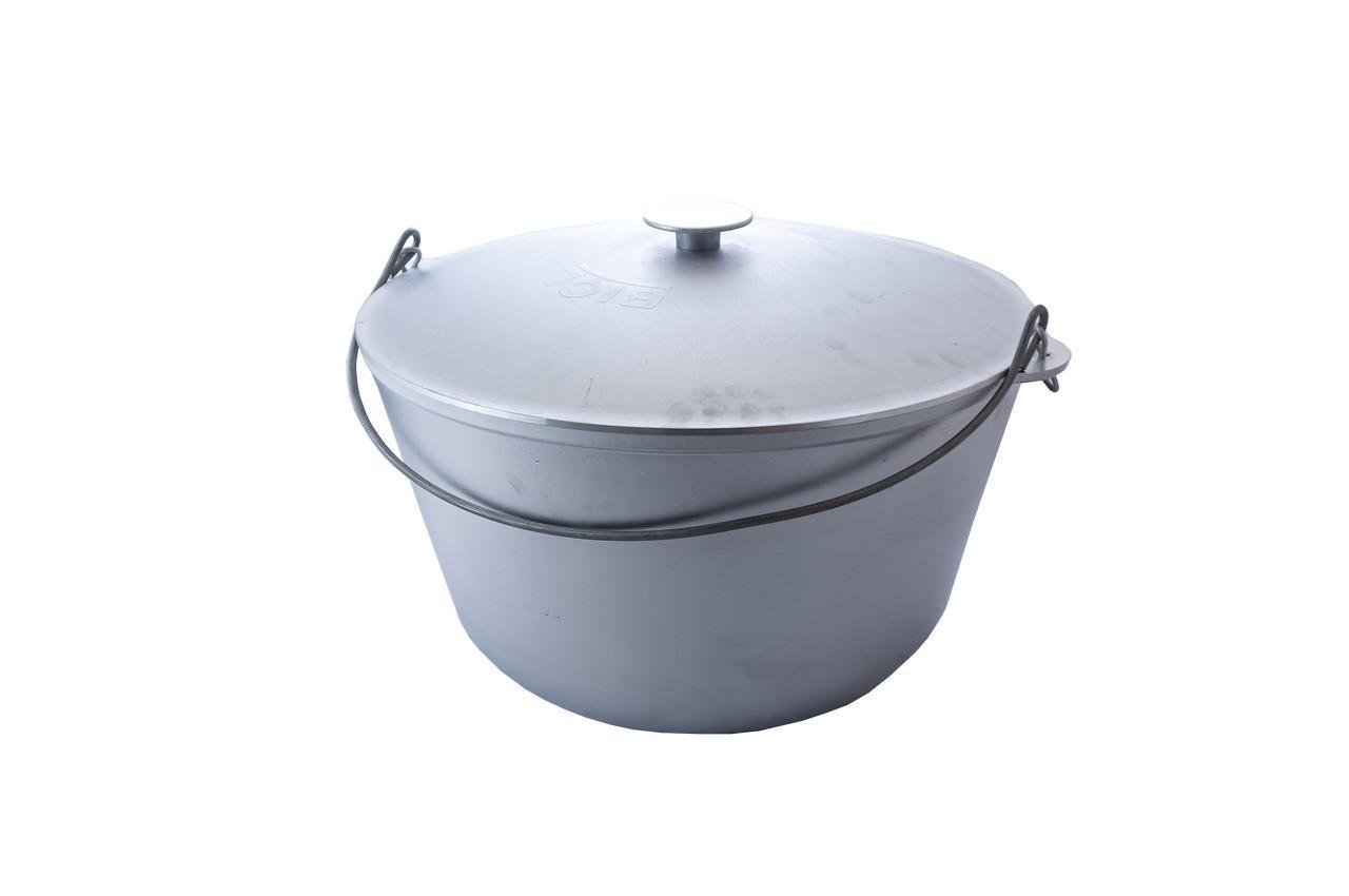 Казан алюминиевый Биол - 500 х 300 мм х 40 л, с крышкой и дужкой