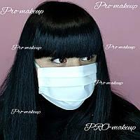 Маска для лица многоразовая защитная из натуральной ткани Lux-Form (черный/белый) Белый