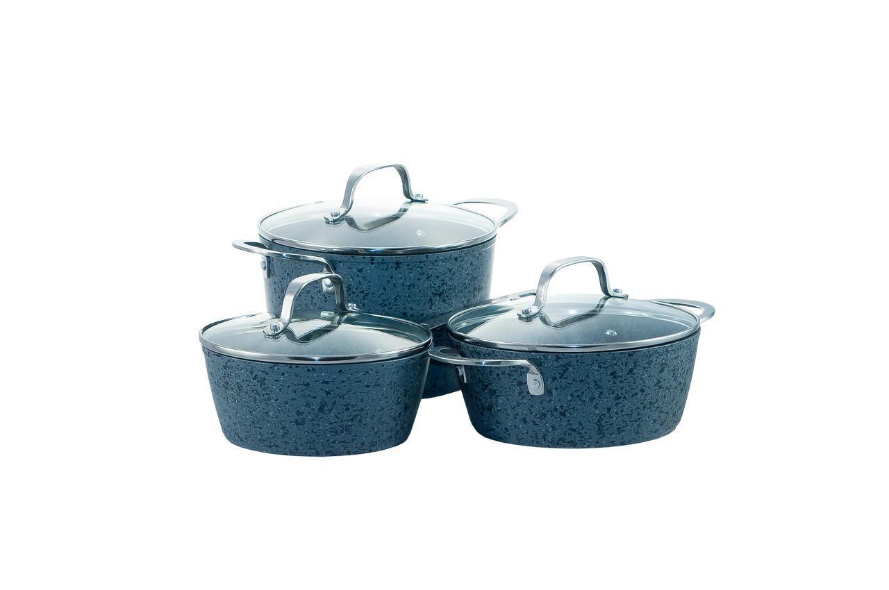 Набор посуды нержавеющий Maxmark - 3 шт. (2,5 x 4 л + 1,7 л) MK-SET20