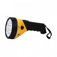 Фонарь светодиодный Horoz Electric Puskas-3 LED 0.9Вт 45Лм 6400К батарея 0.9Ач жёлтый (084-005-0003)