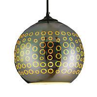Світильник підвісний Horoz Electric RADIAN з 3D-ефектом круглий Е27 хромовий колір плафона (021-007-0001)