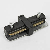 Коннектор для трекових рейок Horoz Electric Track Connector прямий чорний (096-001-0001)