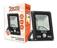 Прожектор світлодіодний Tecro TL-FL-20B-PR LED з датчиком руху 20Вт 1400Лм 6400К (TL-FL-20B-PR)