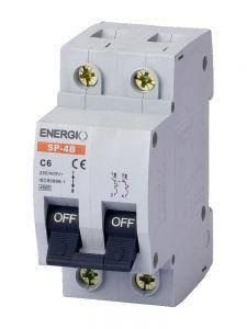 """Модульний автоматичний вимикач 2/6 """"C"""" Energio, фото 2"""