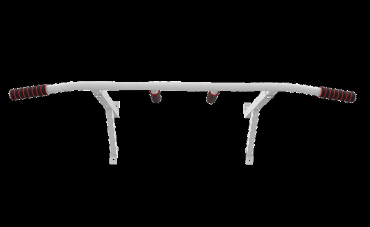 Турник настенный SAB-Building классический 2 в 1 черный, белый