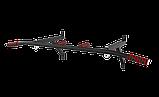 Турник настенный SAB-Building цельносварной  с кольцами для груши 3 в 1 черный,белый, фото 2