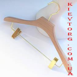 Вешалки плечики тремпеля для костюмов с прищепками акриловые, 44 см