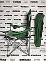 Кресло складное с подлокотниками и подстаканником, 60 х 60 х 110/92 см, Camping Palisad, фото 5