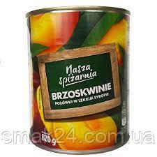 Персик половинками Nasza spizarnia  Brzoskwinie 820g Польша