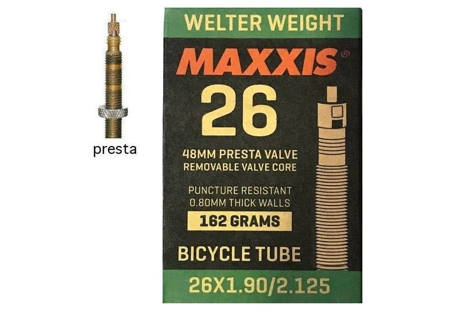 Камера для велосипеда 26x1.90/2.125 FV (Presta) 48mm MAXXIS Welter Weight