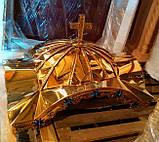 Дах для жертовника з булату з хрестом (спецзамовлення), фото 3