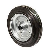 Усиленное колесо 200x50 сталь/черная резина, роликовый подшипник