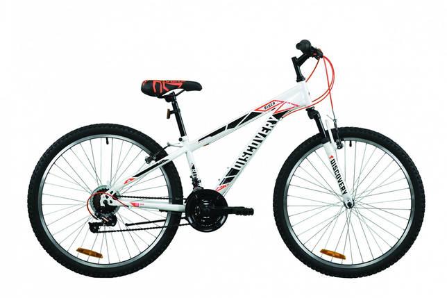 """Велосипед 26"""" Discovery RIDER 2020 (бело-красный с серым), фото 2"""