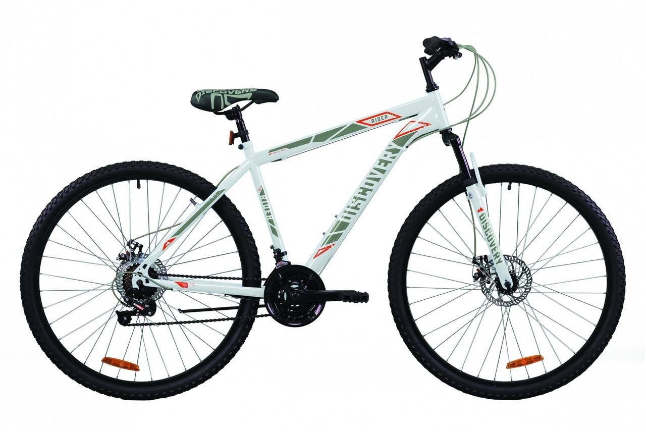 """Велосипед 29"""" Discovery RIDER DD 2020 (бело-красный с серым)"""